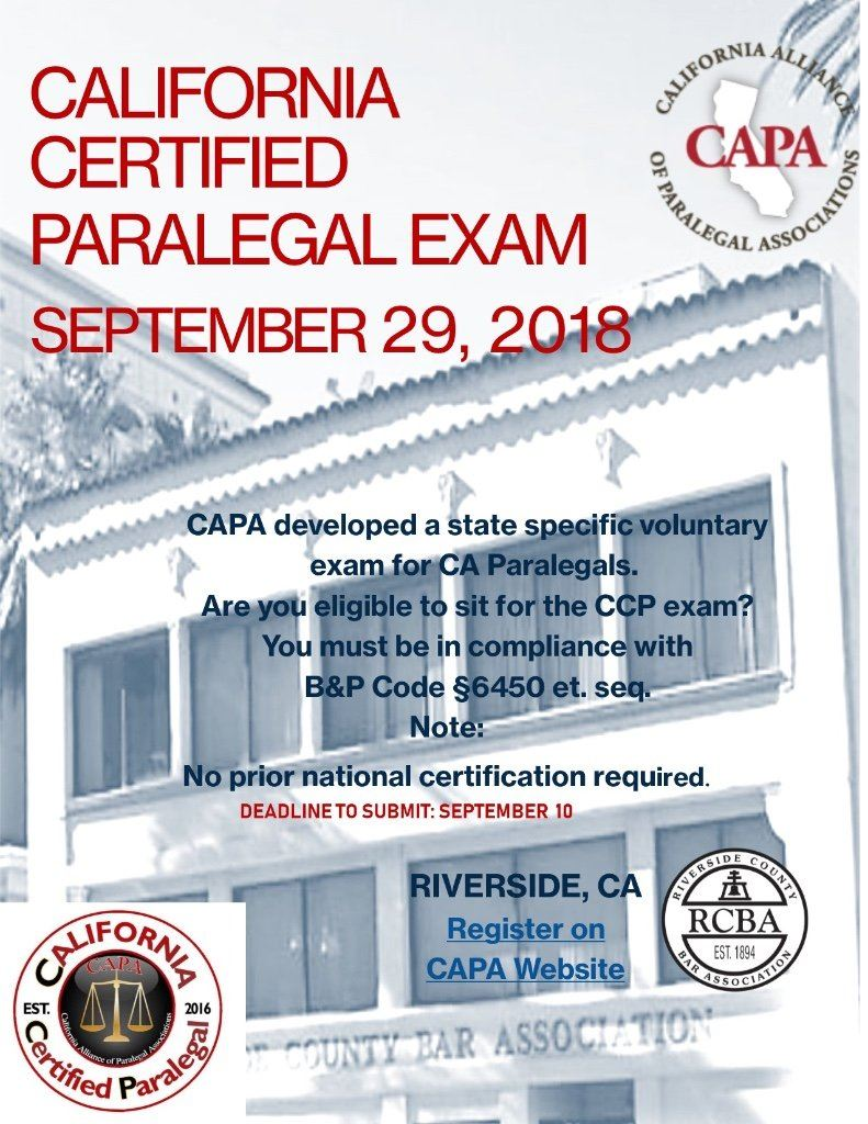 Inland Counties Association Of Paralegals Icap Capa Certified